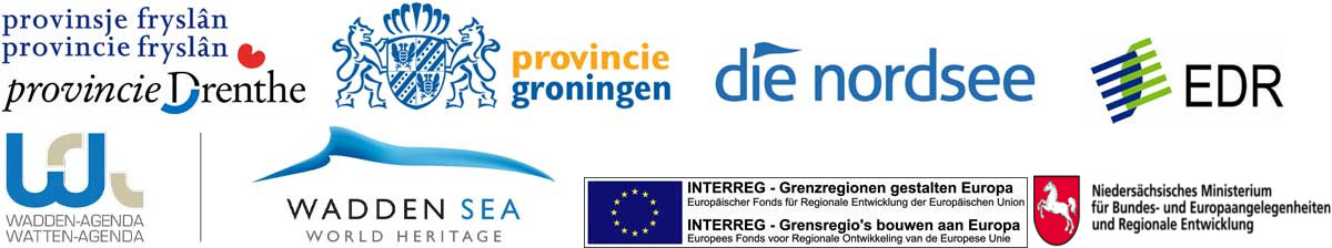 Logo's finaciers en partners in project Altijd Wad Pad